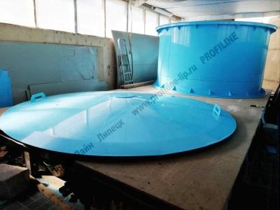 Бассейн из пластика с крышкой